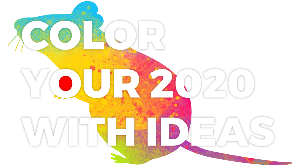 COLOR YOUR WORLD WITH IDEAS NEW YEAR